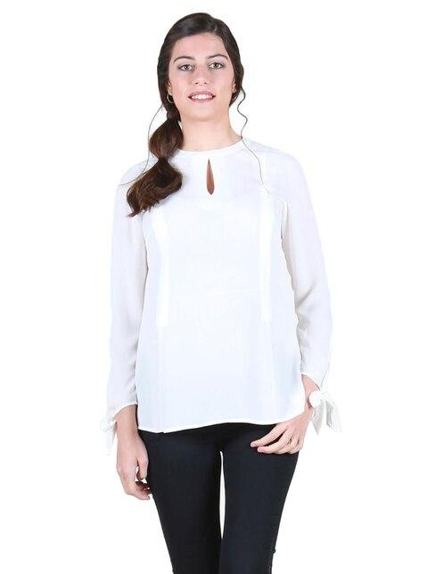 8e8c8de28 Blusa de maternidad lisa Oh Ma! blanca