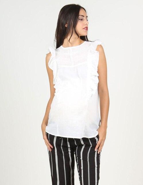3948a3727 Blusa de maternidad Oh Ma! blanca con olanes