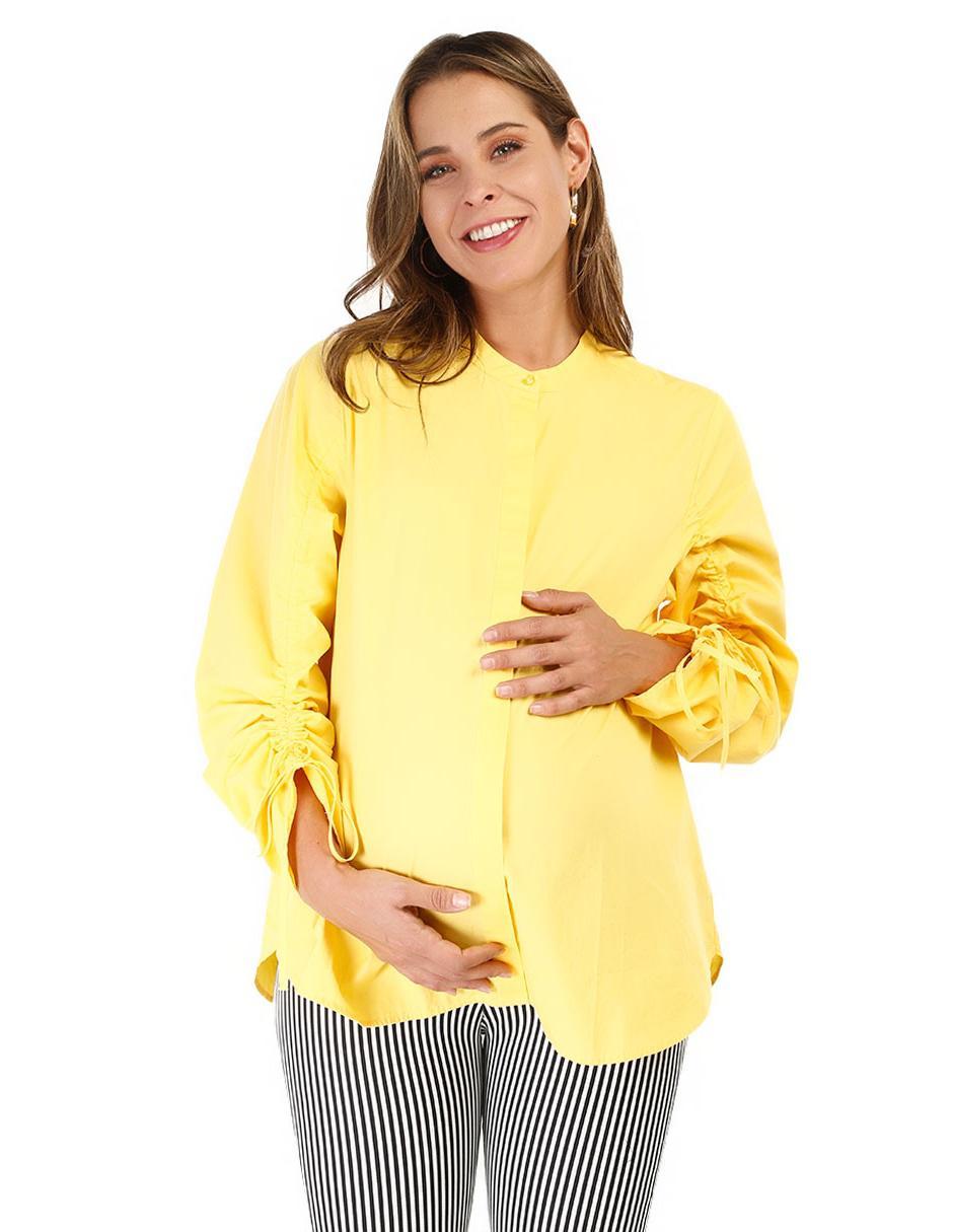 1eada9e14 Blusa de maternidad lisa One To Nine algodón amarilla