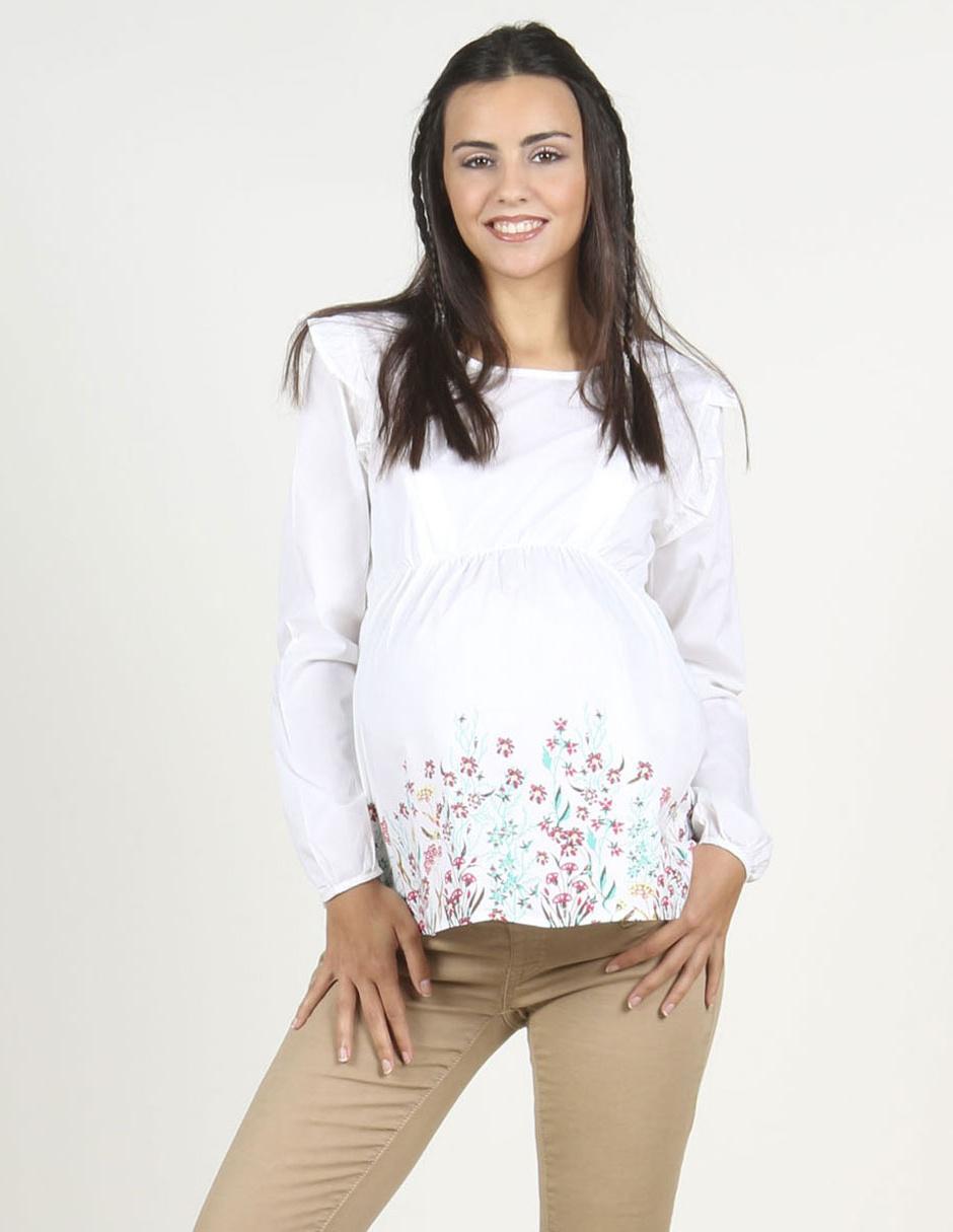 705f51511 Blusa de maternidad Oh Ma! blanca