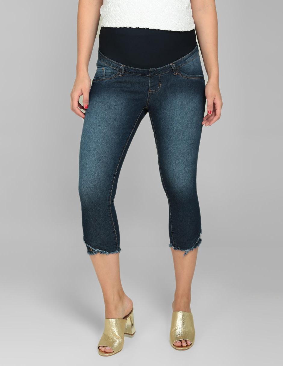 37d0fe5a8 Jeans de maternidad One to Nine corte skinny azul